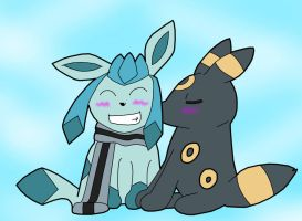 Srash and Umbreon by Tegalad2