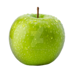 Green apple on a transparent background. by PRUSSIAART