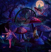 Moonlight fairies by Renata-s-art