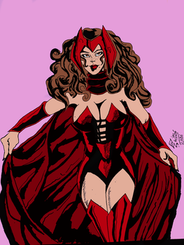Scarlet Witch by EDSantosART