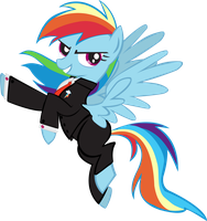 Dashie in a Suit FIXED v2.0 by pyrestriker