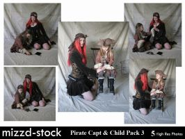 Pirate Captain and Child Pack3 by mizzd-stock