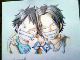 Luffy and Ace by Namuzza94