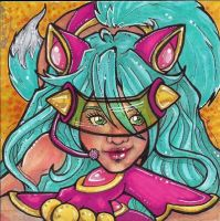 ACEO #34 Inari Sister Tomi by Freckledsleeper