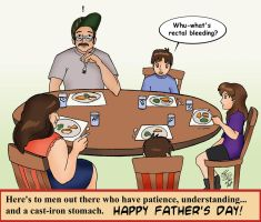 Silly Father's Day Card by Tutankhamun
