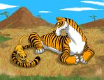 Tiger by the Tail by Peanuttie