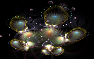bright fantasy flowers by Andrea1981G