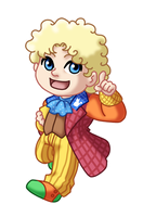 Chibi 6th Doctor v2 by TwinEnigma