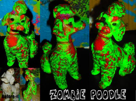 Zombie Poodle by CheeseVision