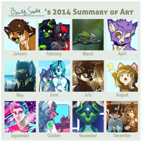 Art Summary 2014 by BeautySnake
