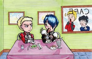 Knives And Legato's Messed Up Dinner Date by katiewhy