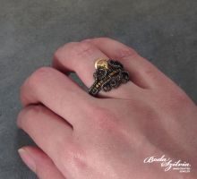 Steampunk queen ring (variation) by bodaszilvia