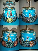Kingdom Hearts Cake by mystiic143