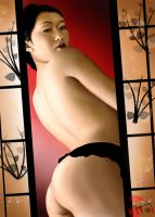 Asian girl - finished by Sainasan