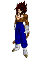 SSJ4 Vegetto by brolyeuphyfusion9500