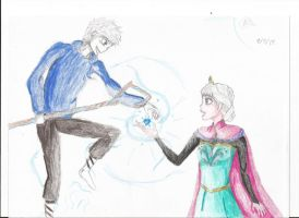 The Meeting of Jack and Elsa by paladin-god28