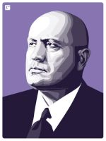 Mussolini by monsteroftheid