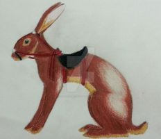 Belgian Racing Hare by ArchaicMosaic