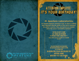 Aperture Science Birthday Card by YumaKirosaki