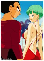 Vegeta y Bulma by salvamakoto