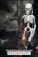 The Crow And The Skeleton I by MissArtistsoul