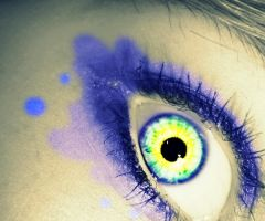 Water Colour Eye by underneath-the-paint