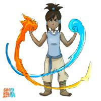 Young Avatar Korra by SleepyHeadKL