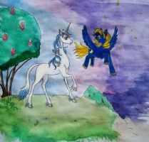 Amalthea and Etoile by TiElGar