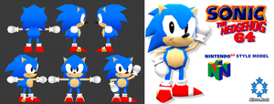 Classic Sonic 64 Styled Model by Nibroc-Rock