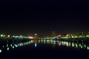 Salford Quays at night by DreamMedia-UK