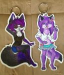 Commission- Keychains for TheVoidKitsune by Xecax