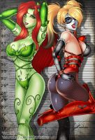 Harley Quinn and Poison Ivy by yuureikun