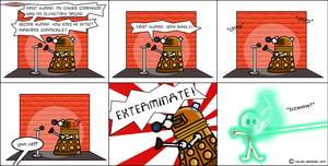 AnyWho Comic 2- Dalek stand-up by willmeister42