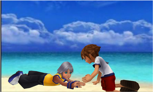Riku and Sora beach by yellalix