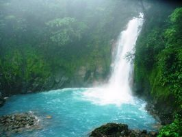 Rio Celeste Waterfall by Javh