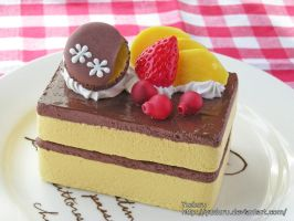 Chocolate and fruits cake box by rriee