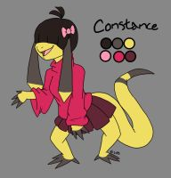 Pokemorphs-Constance the Helioptile by Inkblot-Rabbit