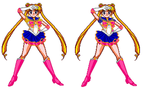 Sailor moon sprite edit by Toshi-san