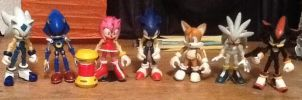5 Hedgehogs plus a Fox and a Robot by ArtKing3000