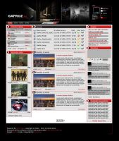 Gafroz gaming webdesign by epicko
