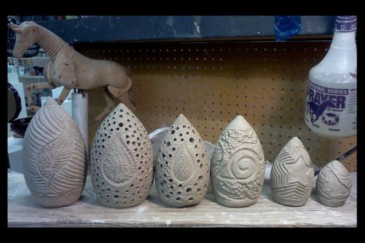 Dragon eggs by griffinlady