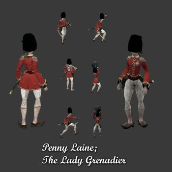 Penny Laine The Lady Grenadier by pickledtezcat