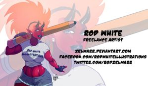 RWhiteIllustrations ad by Zelmarr