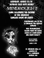 MINDROUGHT Flyer by carnalunacy
