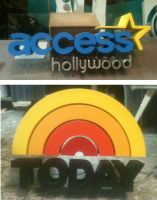 sculpted TV backgroud signs by TimBakerFX