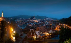 Krumlov evening panorama by AlexGutkin