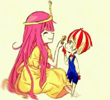 Princess Bubblegum and Peppermint Butler by IDKismyname