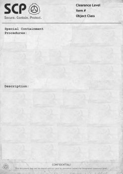Custom SCP document by MangleTheEpicFox