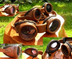 Leather Goggles by mind-traveler