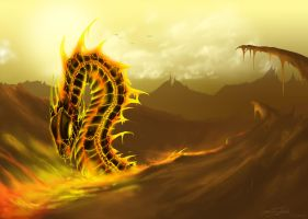 Fire Dragon: Elemental Contest by TheUmbraArtist